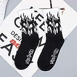 Creative Fashion Harajuku Kawaii Happy Socks Women Banana Fruit Strawberry Animal Print Funny Socks Flame Socks - 3