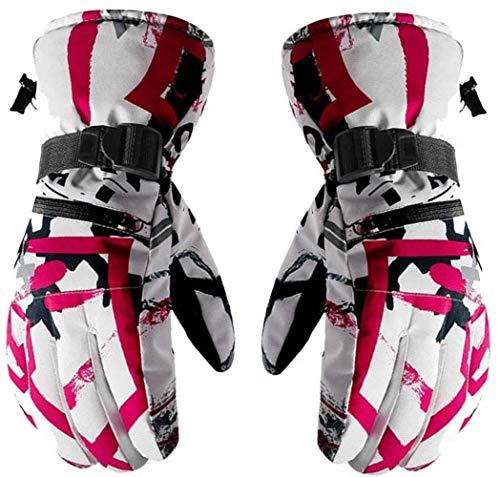 Thermische Ski Handschoenen Anti Slip Sneeuw warme handschoenen om te skiën Snowboarden Winter Outdoor SLIrts Thermal handschoenen for mannen vrouwen, Maat: XL, Kleur: Grijs + White