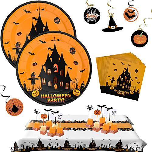 Halloween Plates Halloween Party Supplies Set