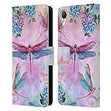 Head Hülle Designs Offiziell Zugelassen JENA DellaGrottaglia Libellen Insekten Leder Brieftaschen Handyhülle Hülle Huelle kompatibel mit HTC Desire 10 Lifestyle