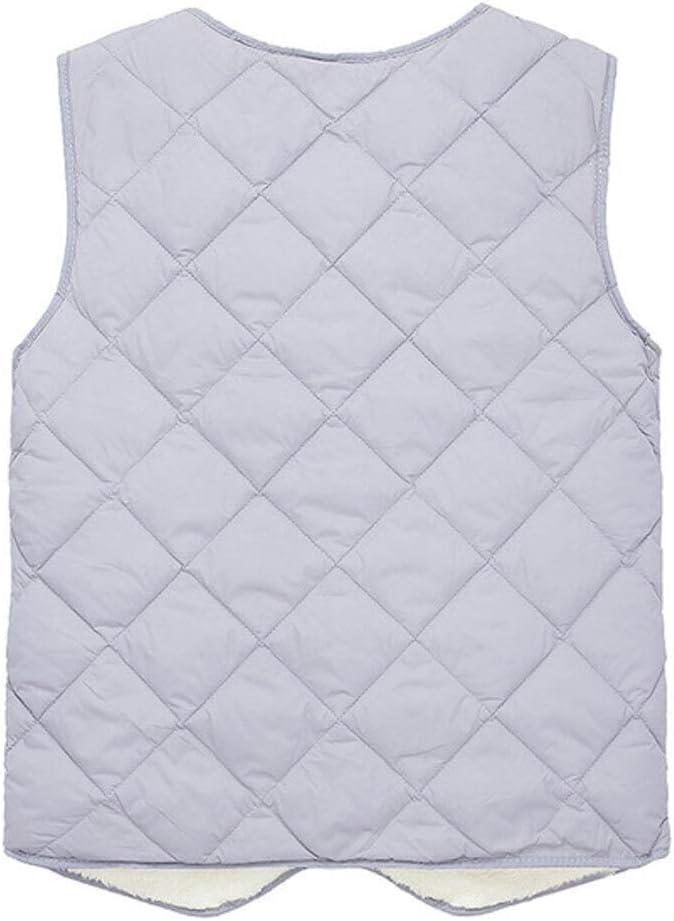 LYLY Vest Women Casual Fleece Mens Vest Jacket Autumn Winter V-Neck Blue Grey Single Breasted Fleece Men's Sleeveless Waistcoat Vest Vest Warm (Color : Green, Size : L)