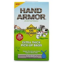 Extra Thick Dog Waste Pick-Up Bags make picking up after your pet a walk in the park! These dog waste bags are 2X thicker than standard bags while also trapping in more odour. The sturdy design makes for a dependable yet environmentally friendly tool...