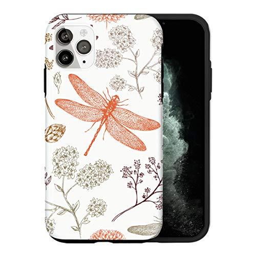 iPhone 12 PRO MAX Funda, Painted Dragonfly AS024 Caso Per iPhone 12 PRO MAX Protector, Gorgeous Phone Cover, Luxury Fashionable [Caso Anti-Rasguño Protección de Esquina Protector Completo]