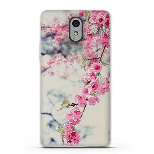 FUBAODA für Lenovo Vibe P1M Hülle, 3D Erleichterung Schöne Blume Muster TPU Case Schutzhülle Silikon Case für Lenovo Vibe P1M