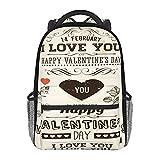 Sac à dos d'écolier mandarin, canard, cœur, noir, sac à bandoulière multiusage, sac à dos léger pour filles/garçons, Fleur papier Saint Valentin, taille unique