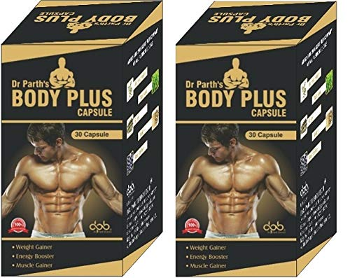 DR. PARTH BIOTECH Body Plus Muscle Weight Gainer, Energy Booster Body Capsule -30 (Pack of 2)