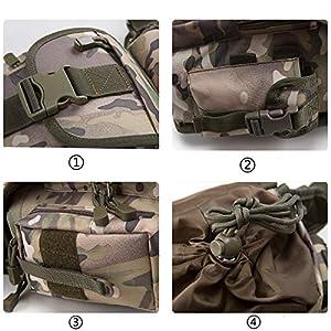 51SUgbmPw9L. SS300  - Jueachy Bolsa de Cintura Multifuncional para la Pierna, táctica, Militar, para Pesca, para Motociclismo, Senderismo,