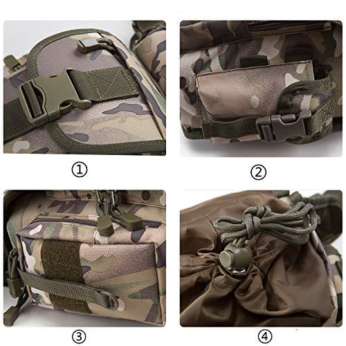 51SUgbmPw9L - Jueachy Riñoneras de Marcha Unisex, Bolsa de Cintura Multifuncional para la Pierna táctica Militar para Pesca para…