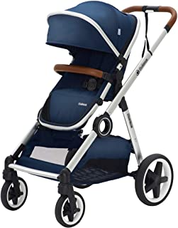 Best 2-in-1 Stroller, High Landscape Stroller and Reversible Cradle, Foldable Stroller with Adjustable Canopy and Back, Retractable Push Rod and Brake System Review