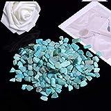 BAN SHUI JU MINSU GUANLI 50g-100g Cuarzo Natural Cristal Blanco Mini Roca Mineral Espécimen Decoración para El Hogar Colorido Decoración de Acuarios y Peceras (Color : Amazon Stone, Size : 100g)