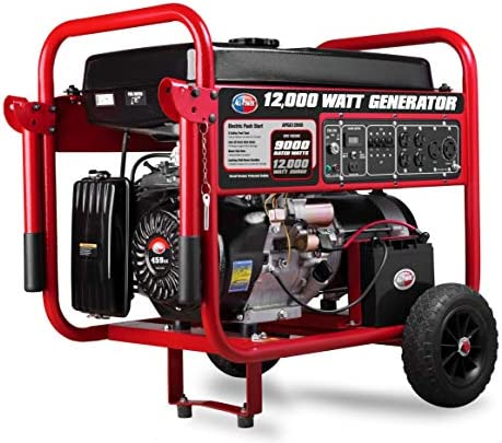 All Power America APGG12000 12000 Watt Portable Generator w Electric Start Gas Powered Black product image