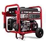 All Power America APGG12000 12000 Watt Portable Generator w/Electric Start Gas Powered, Black/Red
