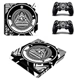 All-seeing Eye - PS4 Skin Console and 2 Controller, Vinyl Decal Sticker Full Cover Protective by QUATLAMSHOP(Beautiful Skin)