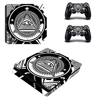 All-seeing Eye - PS4 Skin Console and 2 Controller, Vinyl Decal Sticker Full Cover Protective by Mr Wonderful Skin