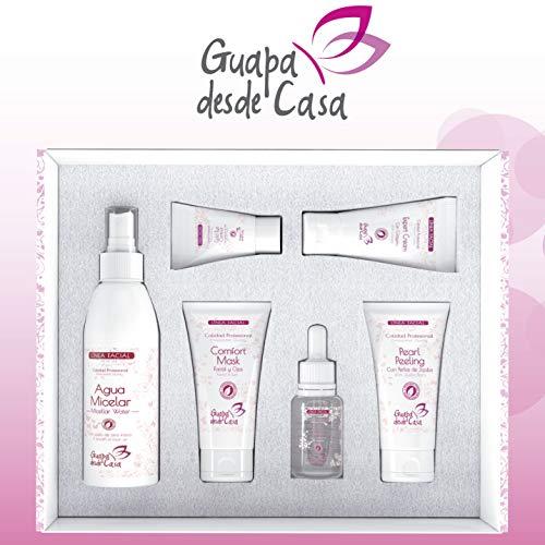 Set Cuidado Facial | 6 productos | Agua Micelar, Active Serum Hialuronico, Comfort Mask, Expert Cream, Gold Eye Contour, Pearl Peeling | Sin Parabenos | Elaborado en España.