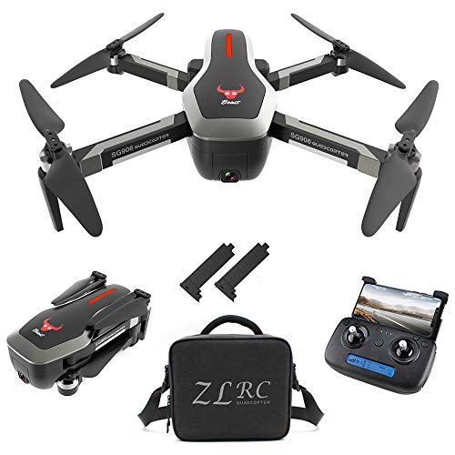 GoolRC SG906 GPS RC Drone with 4K HD Front Camera and 720P Down-Looking Camera, 5G WiFi FPV Foldable Brushless Drone, Optical Flow Positioning Altitude Hold RC Quadcopter with Handbag and 2 Battery