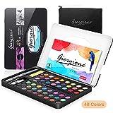 AGPTEK Set de Acuarelas Profesional para Artistas Principiantes, Aficionados, Estudiantes y Niños (48 Color)