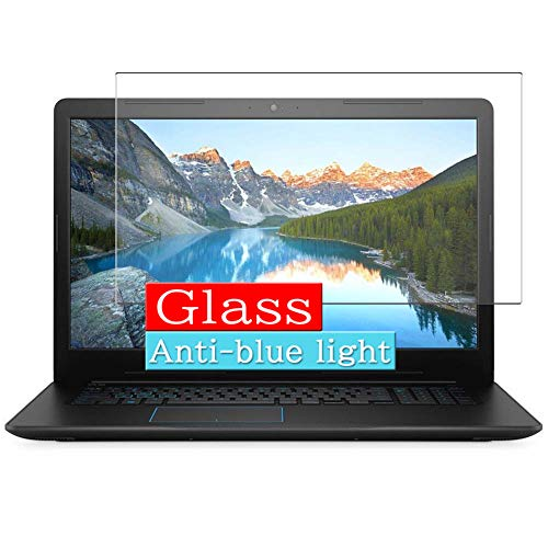 Synvy Anti Blue Light Tempered Glass Screen Protector Compatible with Dell G3 17 3779 (G3779) Series 17.3' Visible Area 9H Protective Screen Film Protectors