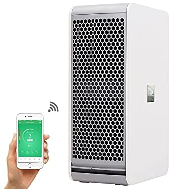 Nectar WIFI Air Purifier Washable Electrostatic Filter - Kills Airborne Bacteria and Pet Allergens, Large Room