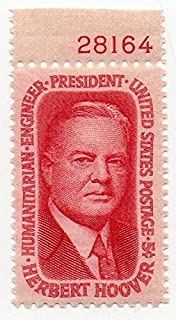 USA Postage Stamp Single (With Plate Number) 1965 Herbert Hoover Issue 5 Cent Scott #1269