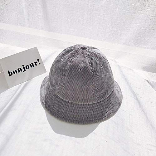 Dthlay Hüte Eimer Hüte SummeNew Fashion Fishing Man Cordhüte Hochwertige Casual Outdoor Sun Bucket Hats-Grey