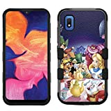 for Samsung Galaxy A10e Case, Galaxy A10e Hard+Rubber Dual Layer Hybrid Heavy-Duty Rugged Impact Cover Case - Alice in The Wonderland #T