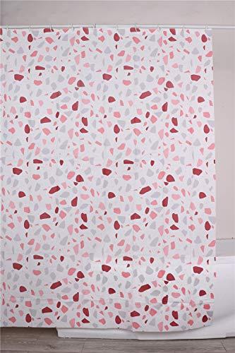 BM 4218 Duschvorhang aus PEVA, Maße 180 x 200 cm, inklusive Haken, Dekor Wassermelone