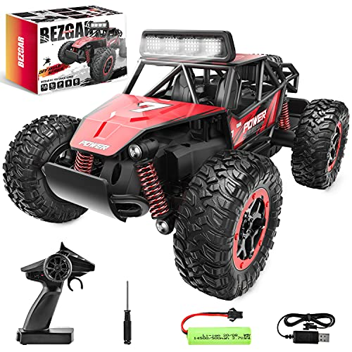 BEZGAR 17S Toy Grade 1:20 Scale Remote Control Car, 2WD High Speed 20 Km/h All Terrains Electric Toy...