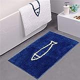 Lindong Microfaser Badematte Rutschfest Schnelltrocknend Waschbar Badvorleger Teppich Fußmatte...