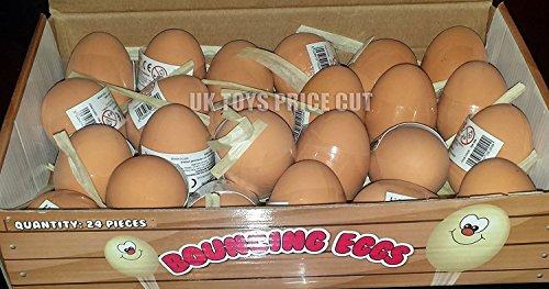 6 Balles Rebondissantes Ovoides - Brun (Egg Shape Brown Jet Balls)