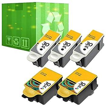 5 Pack 30XL Black & Color Ink Cartridges for Kodak ESP Office 2150 2170 Printer  5 Pack 30XL Ink Cartridge