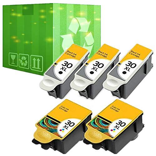Cartuchos de tinta negra y de color para impresora Kodak ESP Office 2150 2170, 5 paquetes de cartuchos de tinta 30XL