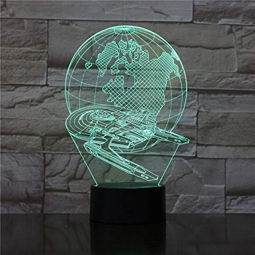 3D-687 Space Ship Touch Table Lamp 7 Colors Changing Table Lamp 3D Lamp Novelty Led Night Lights USB Light 1766