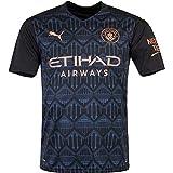 PUMA Camiseta de fútbol del Manchester City (temporada 20/21), Negro/vaquero., xx-large