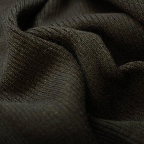 Jersey Tissu en tricot côtelé, 2 x 1 Structure en tricot 80 cm large, lavable en en tricot, une excellente durabilité et porter propriétés, de poids léger à moyen, marron, 10 Meters