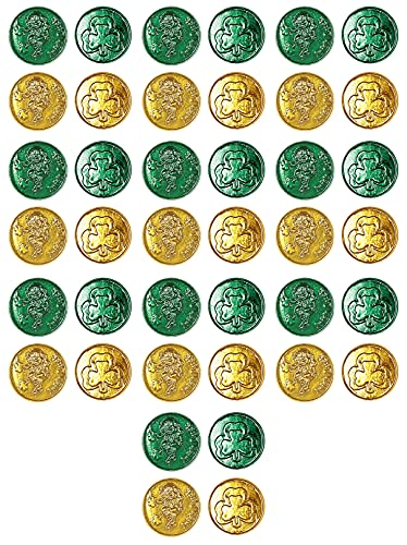 Lucky Leprechaun Plastic Coins