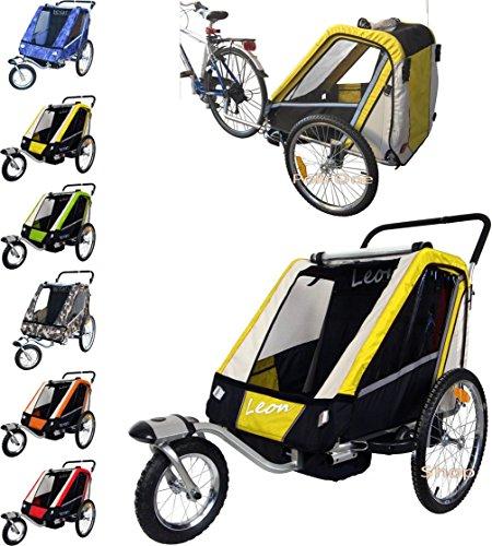 Leon paplioshop plegable bicicleta colgante Buggy con rueda delantera, para 1o 2niños,...