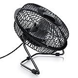 CSL - Ventilator 17cm - Fan - mini Tischventilator Schreibtischventilator - USB Anschluss - neigbar - Hoher Luftdurchsatz - klein und leise - perfekt für den Schreibtisch - Energie-sparend