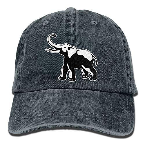 zhkx Unisex Baseballkappe Jeans Stoff Hut Elefant Tattoo verstellbar Snapback Sonnenhut Hip-Hop 8627