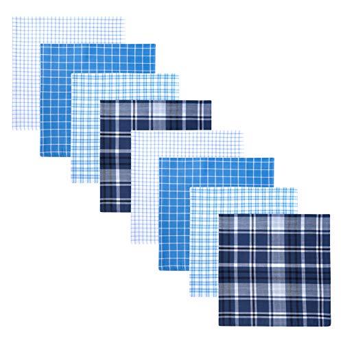 Retreez 8 Piece Pure Cotton Assorted Men's Handkerchiefs Hanky Gift Box Set - Assorted Set 004