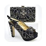 Juego de Zapatos y Bolsos Italianos de tacón Alto para Mujer, Color Azul Cielo, Multi (5), 39.5 EU