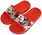 Chanclas Minnie Mouse para niñas - Flip-Flop Disney Minnie Mouse para Playa y Piscina (Rojo, Numeric_26)