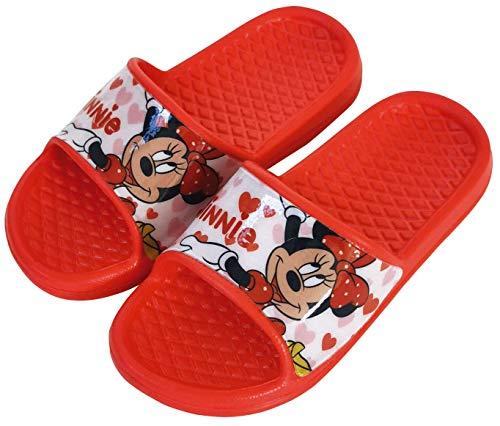 Infradito Minnie Mouse per bambine - Flip-Flop Disney Minnie Mouse per spiaggia e piscina Rosso Size: 30/31 EU