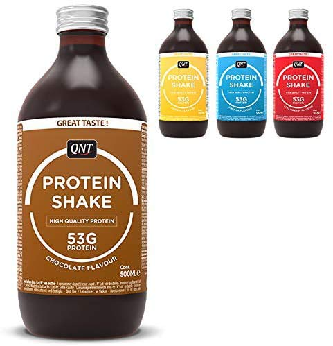 QNT Fit Protein Shake 24 x 500ml Ready to Drink Protein Shake Fat Free RTD RTDs Same as Multipower (Vanilla)