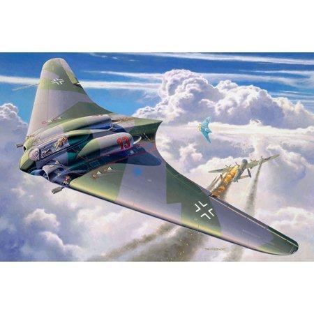 Revell Modellbausatz Flugzeug 1:72 - Horten Go 229 im Maßstab 1:72, Level 4, originalgetreue Nachbildung mit vielen Details, 04312
