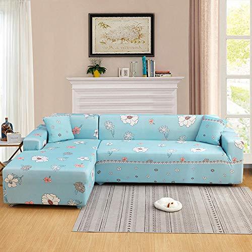 Fsogasilttlv Funda de sofá 4 plazas, Funda de sofá Funda de sofá Funda de sofá elástica para Sala de Estar, Esquina de Mascotas Funda de sofá Chaise Longue en Forma de L