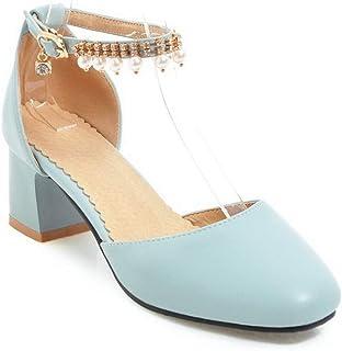 BalaMasa Womens ASL06318 Pu Block Heels