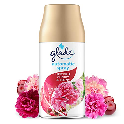Glade Automatic Air Freshener Refill, Auto Spray Scent for Home, Cherry & Peony, Pack of 1