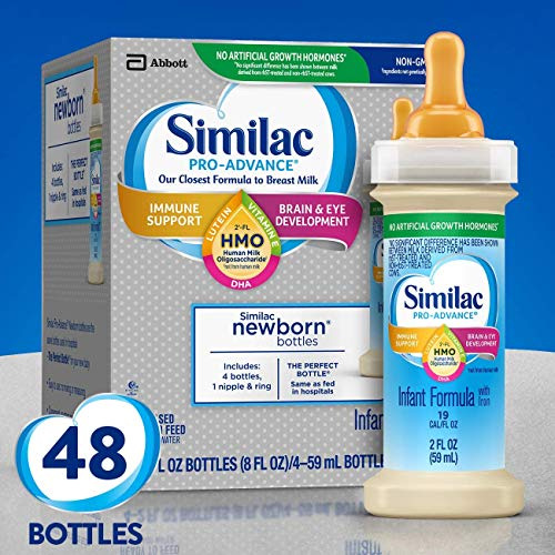 Similac Pro-Advance Infant Formula with 2'-FL HMO for Immune Support, Ready to Feed Newborn Bottles, 2 fl oz, ( Special Discount Offer)(48 Count)