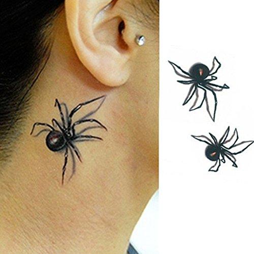 AchidistviQ Aufkleber, Spinnen-Muster, abnehmbar, wasserdicht, für Körperkunst, temporäre Tattoos mehrfarbig